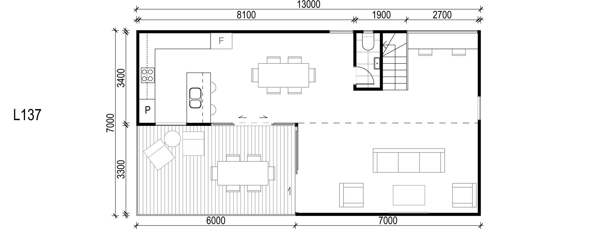 <span>L137</span> <br />Module Price: $148,730<br /> Installation Cost: $23,630<br />Modules: 2<br />Size:91m²