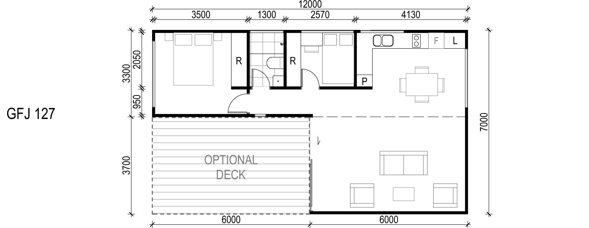 <span>GFJ127</span> <br />Module Price: $115,990<br /> Installation Cost: $20,010<br />Modules: 2<br />Size:60.6m²