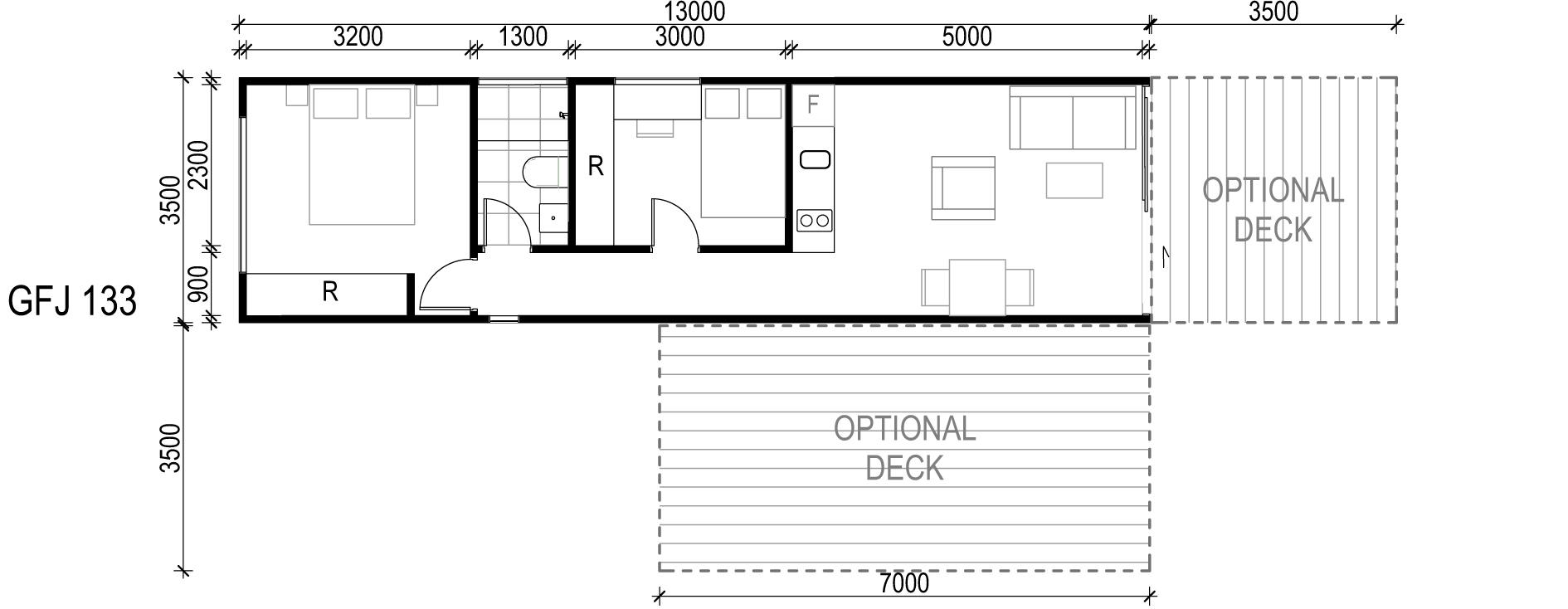 <span>GFJ133</span> <br />Module Price: $95,790<br /> Installation Cost: $15,200<br />Modules: 1<br />Size:45.5m²