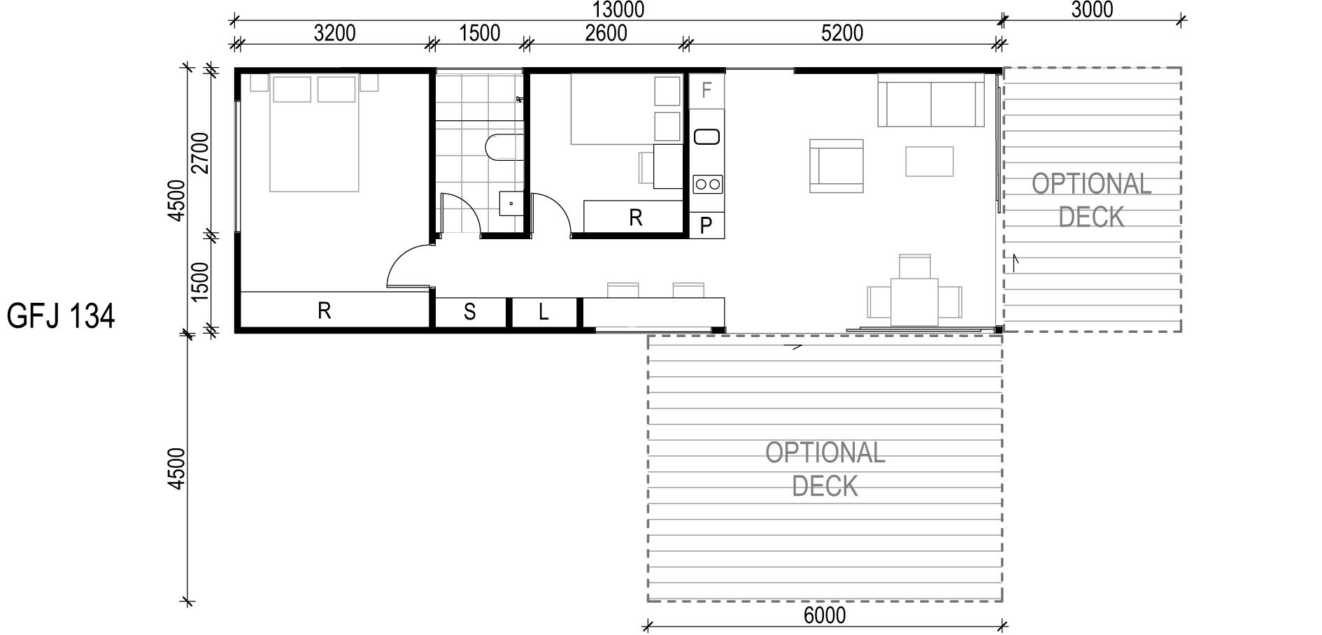 <span>GFJ134</span> <br />Module Price: $108,530<br /> Installation Cost: $16,080<br />Modules: 1<br />Size:58.5m²