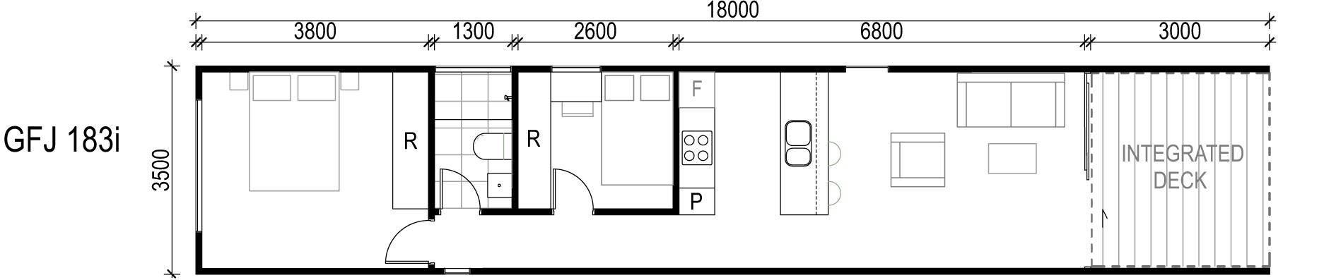 <span>GFJ183i</span> <br />Module Price: $114,660<br /> Installation Cost: $17,340<br />Modules: 1<br />Size:63m²